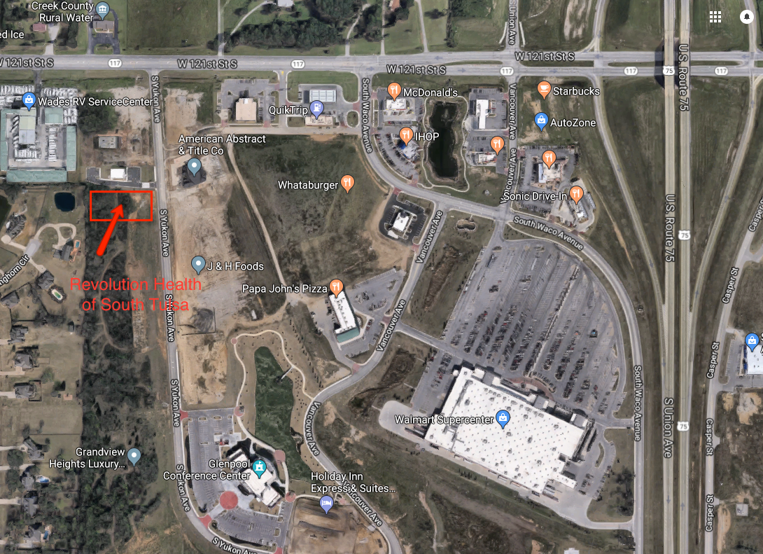 Revolution Health Tulsa Glenpool satellite map aerial