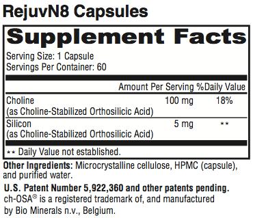 RejuvN8 Supplement Facts