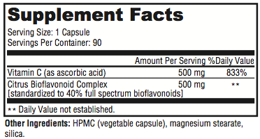 Revolution C supplement facts