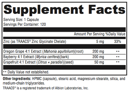 SIBO Stop B Supplement Facts