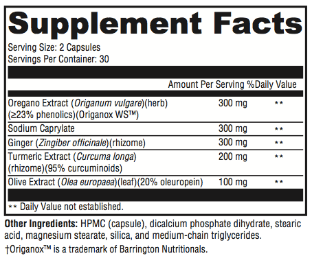 SIBO Stop C Supplement Facts