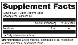 Melatonin Supplement Facts