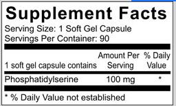 Phosphatidylserine Supplement Facts; Revolution Supplement
