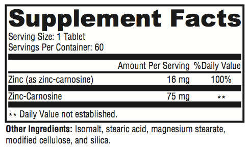 Rev Reflux Supplement Facts; Revolution Supplement
