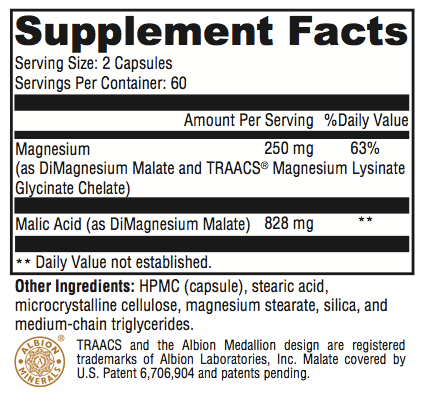 Revolution Magnesium Supplement Facts; Revolution Supplement