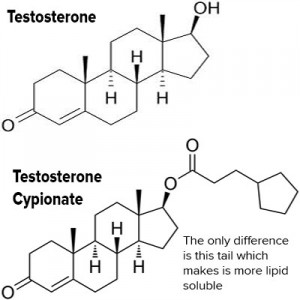 testosterone and testosterone cypionate structure replacement therapy
