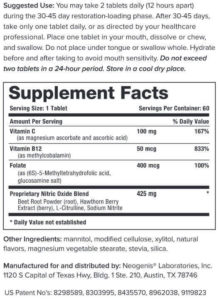 Tulsa Functional Medicine Neo40 Professional supplement facts